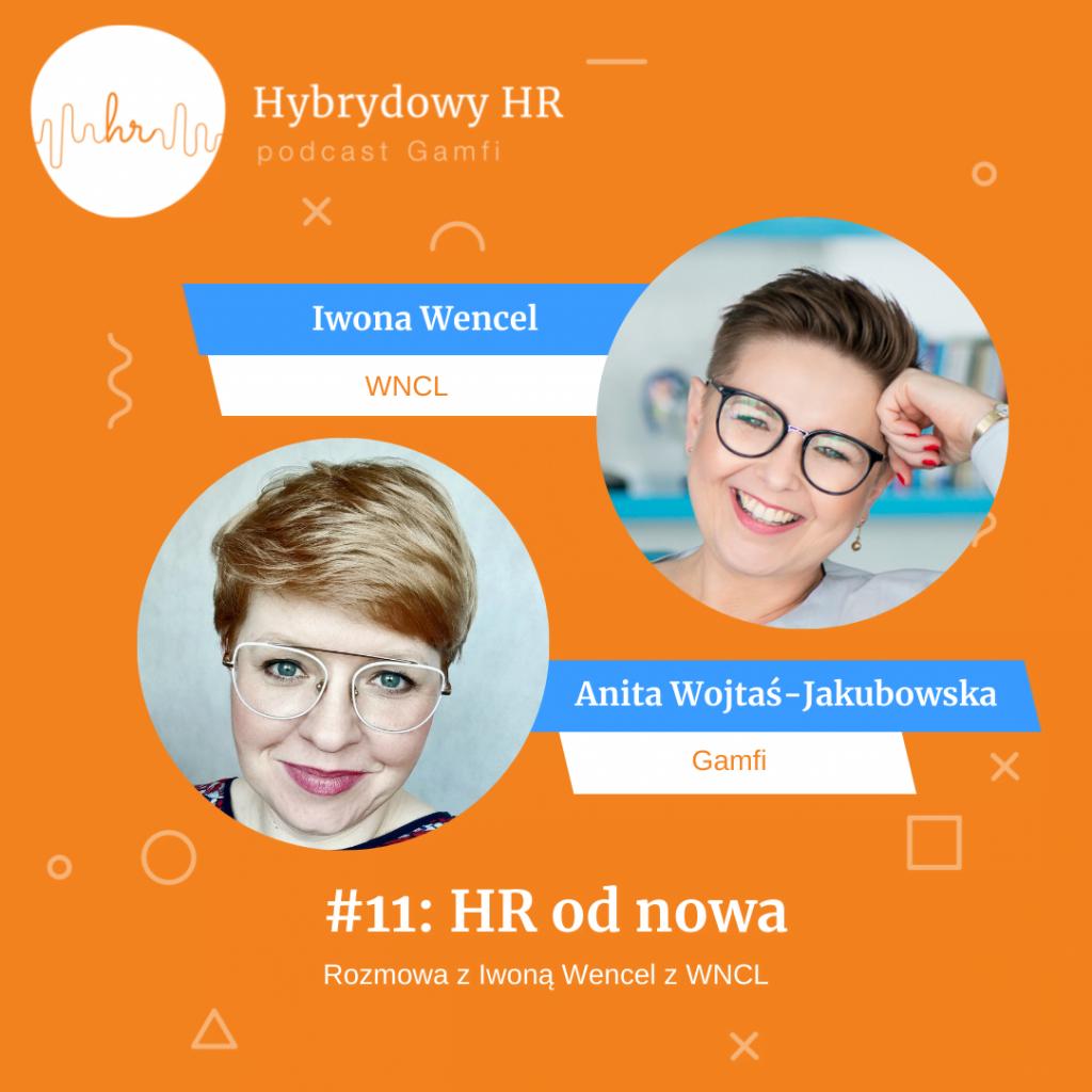 """Iwona Wencel z WNCL   podcast Gamfi """"Hybrydowy HR""""   Gospodarz: Anita Wojtaś-Jakubowska"""