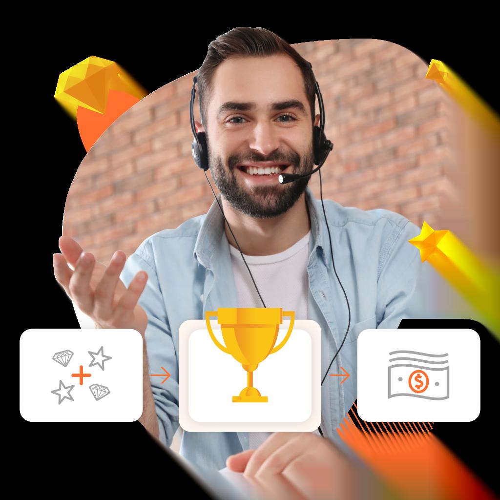 Gamfi TeamBOOSTER | Aplikacja do efektywności działów sprzedaży i call center od Gamfi